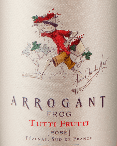 The Tutti Frutti Rosé from Arrogant Frog is a fruity and fresh French rosé wine cuvée made from the Grenache (50%), Cinsault (30%) and Syrah (20%) grape varieties. In the glass this wine presents itself in a bright cherry pink. The complex bouquet of cherries, strawberries, raspberries, caramel and floral nuances develops into a fragrance of soft, candied fruits. This French rosé is rich, silky and well-balanced on the palate. This wine impresses with its fruity character, a beautiful residual sweetness with balanced acidity and long finish. The name says it all with this rosé wine! The cellar master had a free hand with the vinification and is only subject to the requirement to create a real fruit bomb - that is absolutely successful! Food recommendation for the Arrogant Frog Tutti Frutti Rosé Serve this dry rosé from France with salads, light dishes, pasta with creamy sauces, grilled meat, white meat and soft cheese.