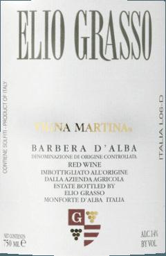 Barbera d'Alba Vigna Martina DOC 2017 - Elio Grasso von Elio Grasso