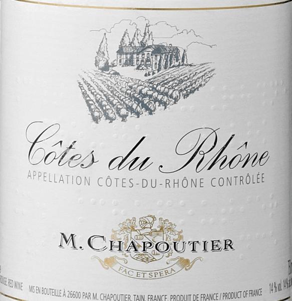 Côtes du Rhône AOC 2019 - M. Chapoutier von M. Chapoutier