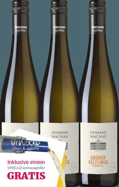 3er Vorteils-Weinpaket - Grüner Veltliner Federspiel Terrassen 2019 - Domäne Wachau von Domäne Wachau