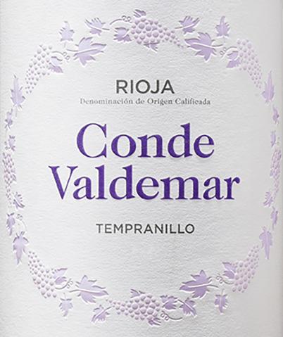 Conde Valdemar Tempranillo Rioja DOCa 2019 - Bodegas Valdemar von Bodegas Valdemar