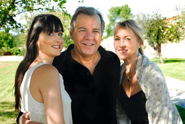 René-Luc Chabasse mit Frau und Tochter