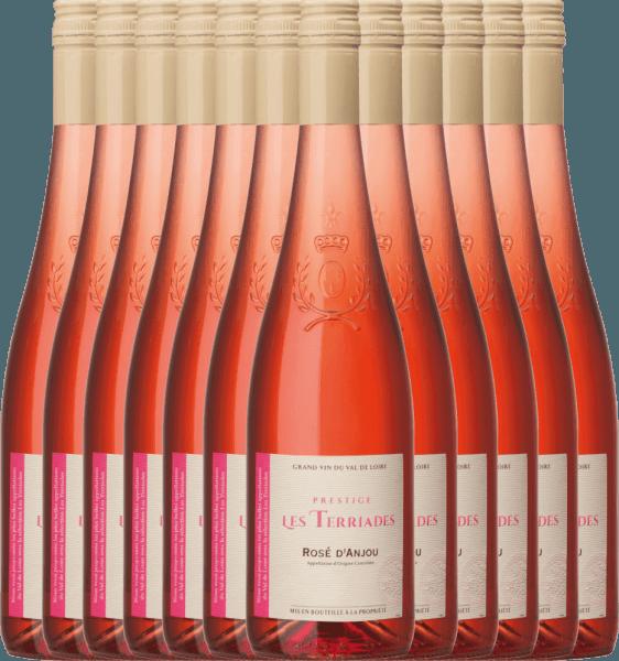 12er Vorteilspaket - Rosé d'Anjou Les Terriades AOC 2020 - Les Caves de la Loire