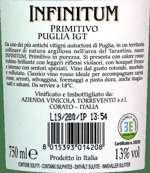 Infinitum Primitivo Puglia IGT 2018 - Torrevento von Torrevento