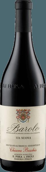 Der Barolo Via Nuova DOCG von Enrico Pira offenbart sich in einem Rubinrot mit violetten Reflexen im Glas und entfaltet sein mediterran geprägtes Bouquet mit den Aromen von Thymian und Rosmarin. Abgerundet werden diese Kräuternoten durch Schlehe, feinen Nuancen von Sandelholz, sowie von Krokant und gerösteten Mandeln. Dieser elegante und charaktervolle Wein ist ein Barolo der femininen Art, der nur so vor Komplexität strahlt. Seine Säure und Tannine sind perfekt ausbalanciert. Vinifikation für den Barolo Via Nuova DOCG von Enrico Pira Nach der Fermentation reifte dieser Barolo für 2 Jahre in neuen Fässern aus französischer Eiche, im Anschluss daran wurde er noch ein Jahr in der Flasche verfeinert. Speiseempfehlung für den Barolo Via Nuova DOCG von Enrico Pira Genießen Sie diesen trockenen Rotwein zu kräftigen Gerichten von Schwein und Rind, gegrilltem Fleisch, Lamm und Wild oder zu kräftigen Käsesorten.