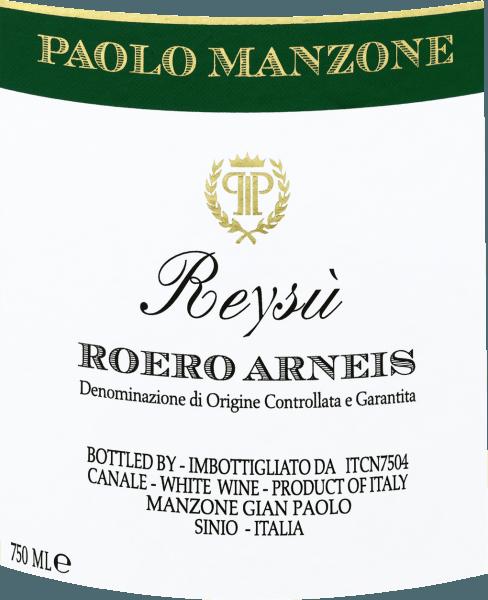 Reysù Roero Arneis DOCG 2019 - Paolo Manzone von Paolo Manzone