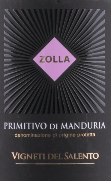 Zolla Primitivo di Manduria DOP 2017 - Vigneti del Salento von Farnese Vini