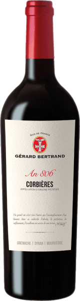 The Heritage 806 Corbières from Gérard Bertrand appears in the glass in a concentrated ruby ​​red and unfolds its intense bouquet with the aromas of blackberries, blackcurrant, garrigue and spices. This red wine is juicy on the palate and full bodied with lots of power. The enamel gives the Heritage 806 Corbières a unique elegance. With spicy fruit and full tannins this wine ends. Vinification of Gérard Bertrand Heritage 806 Corbières This cuvée is made from Syrah, Grenache and Mourvèdre vines. The grapes are picked by hand and then processed separately. The Syrah grapes are macerated and fermented for a total of 10-18 days, Grenache and Mourvedre are traditionally fermented, meaning that they are completely de-stemmed and fermented on the mash. Until the end of malolactic fermentation, the wines remain in the tank. Then the wines are combined to form this cuvée and matured in barriques for 8 months. After light fining, the Heritage 806 Corbières is bottled and refined in the bottle for a few months. Food recommendation for Gérard Bertrand Corbières Enjoy this dry red wine with grilled or roasted meats of beef, lamb or venison, mushroom ragout or strong cheeses.