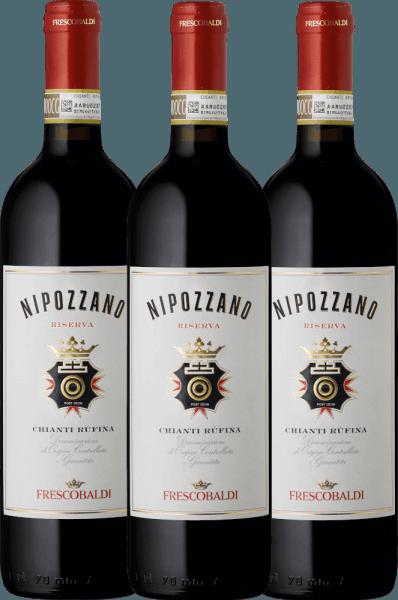 3er Vorteils-Weinpaket - Nipozzano Chianti Rufina Riserva DOCG 2018 - Castello di Nipozzano