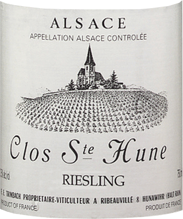 This traditionally matured and first-class Riesling is vinified from grapes grown on a single vineyard Clos Ste. Hune. The racy Riesling Clos Sainte Hune from F.E. Trimbach is distinguished by its balanced, harmonious and varietal taste. It is a truly exceptional wine that can only be produced in limited quantities. It is an excellent accompaniment to Alsatian specialities, grilled fish dishes or herb sauces, white meats and poultry with herbs and, of course, to particularly mature cheeses such as goat's cheese.
